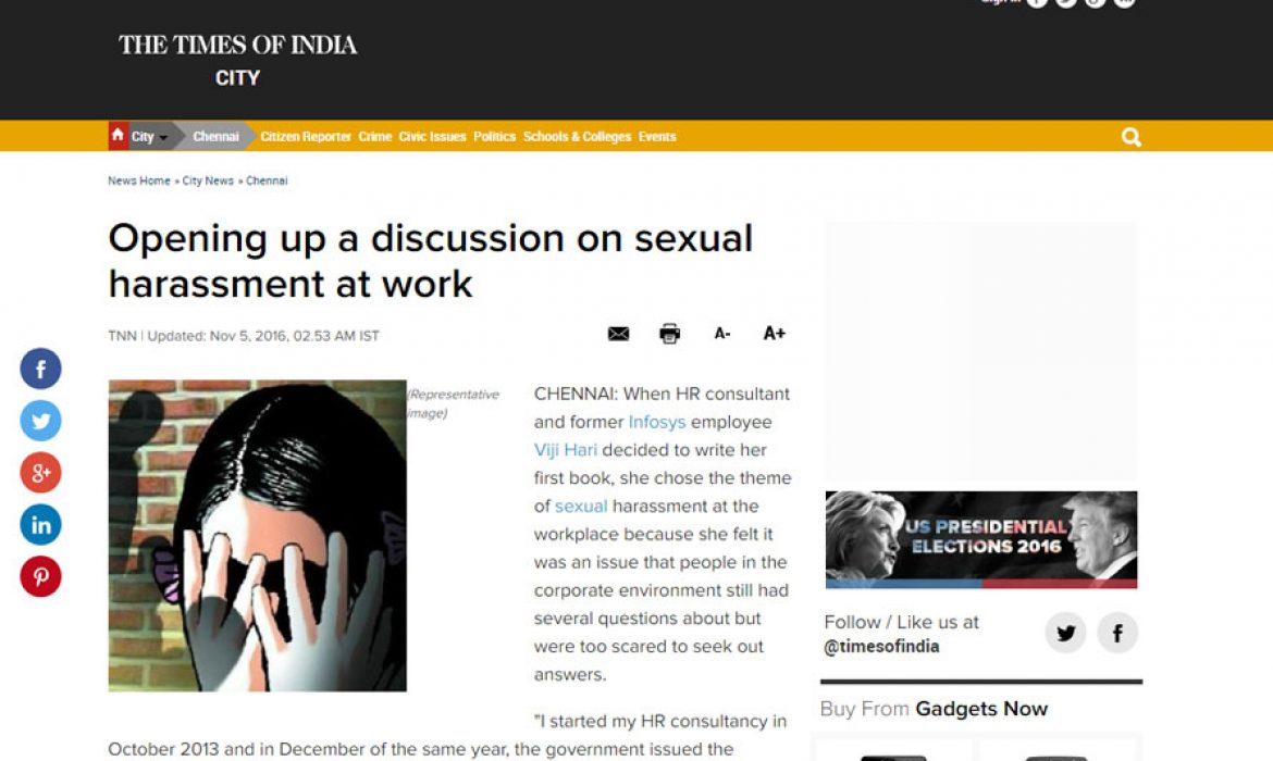 Opening up a discussion on sexual harassment at work