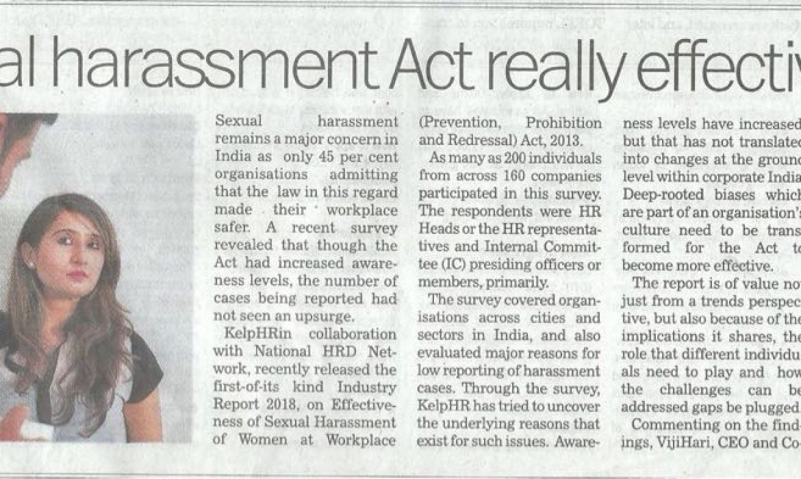 Is Sexual Harassment Act really effective