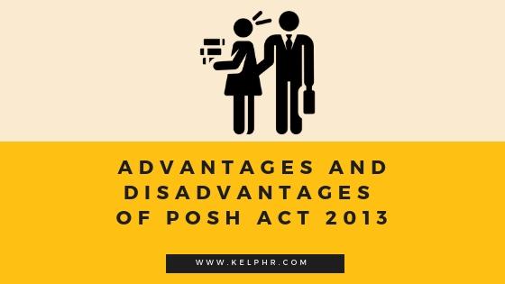 Advantages Disadvantages of PoSH Act - Advantages and Disadvantages of PoSH Act