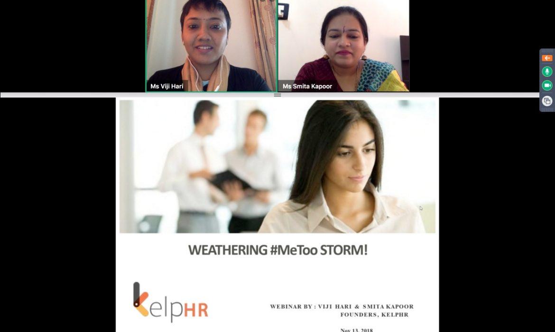webinar on Weathering the # MeToo Storm by Viji and Smita