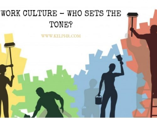 Work Culture – Who sets the tone?