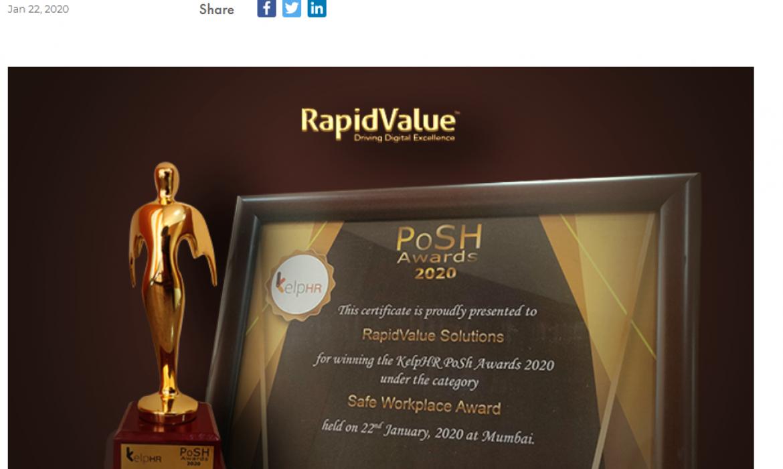 rapidvalue_posh awards